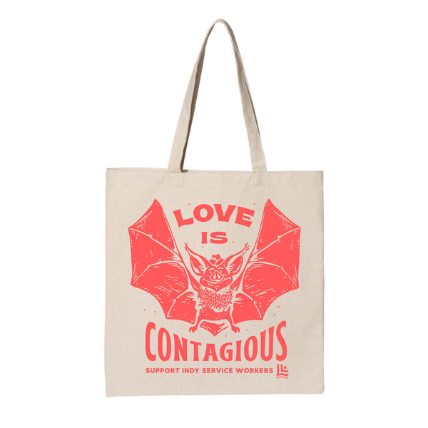 Adam Johnson: Love is Contagious Tote