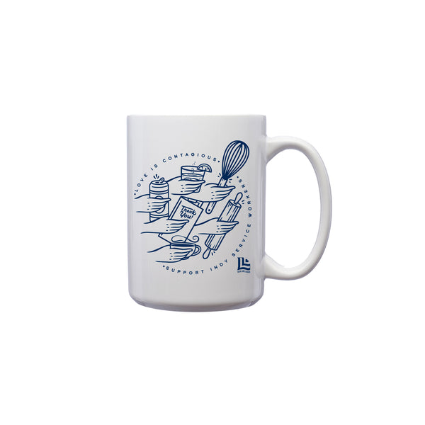 Ross Shafer: Love is Contagious Mug