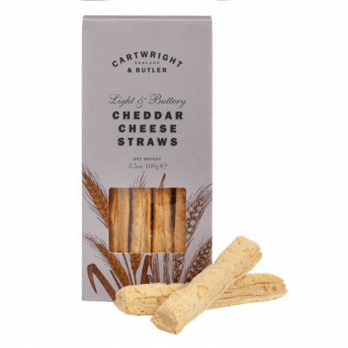 Cartwright and Butler Cheddar Cheese Straws 100g - Celebration Cheeses