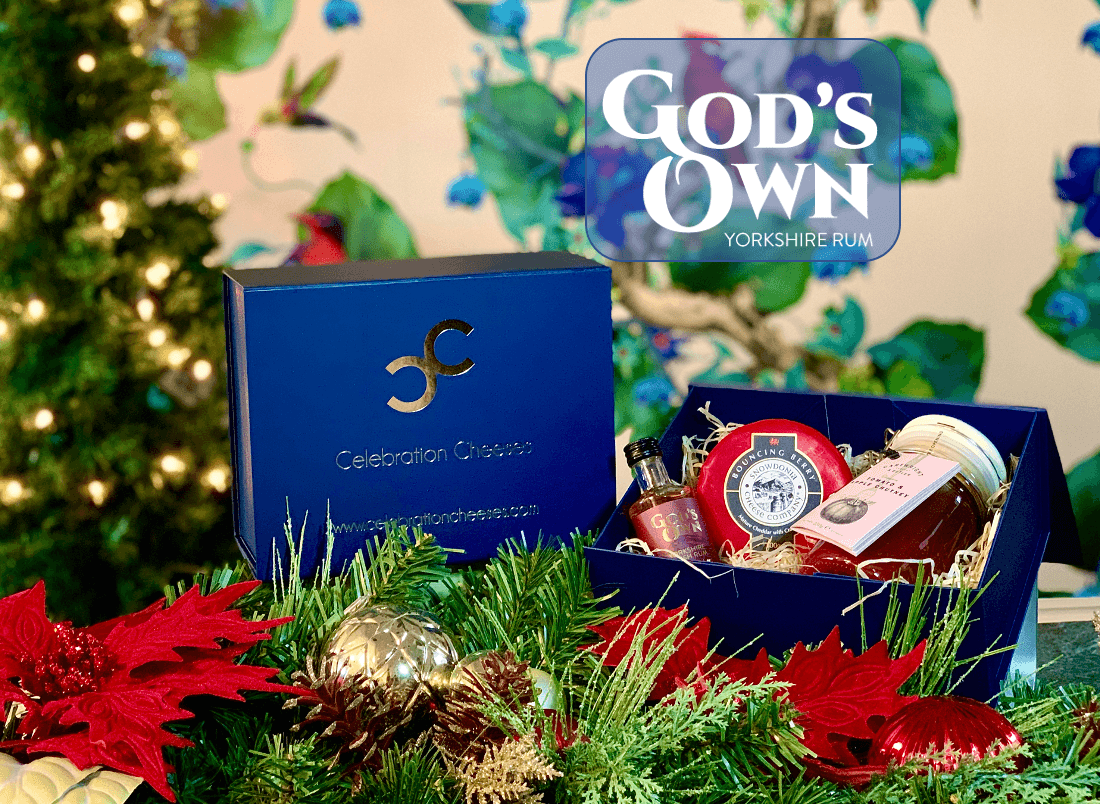 God's Own Rum - Fruity Festive Cheese Box 200g (cheese weight) - Celebration Cheeses