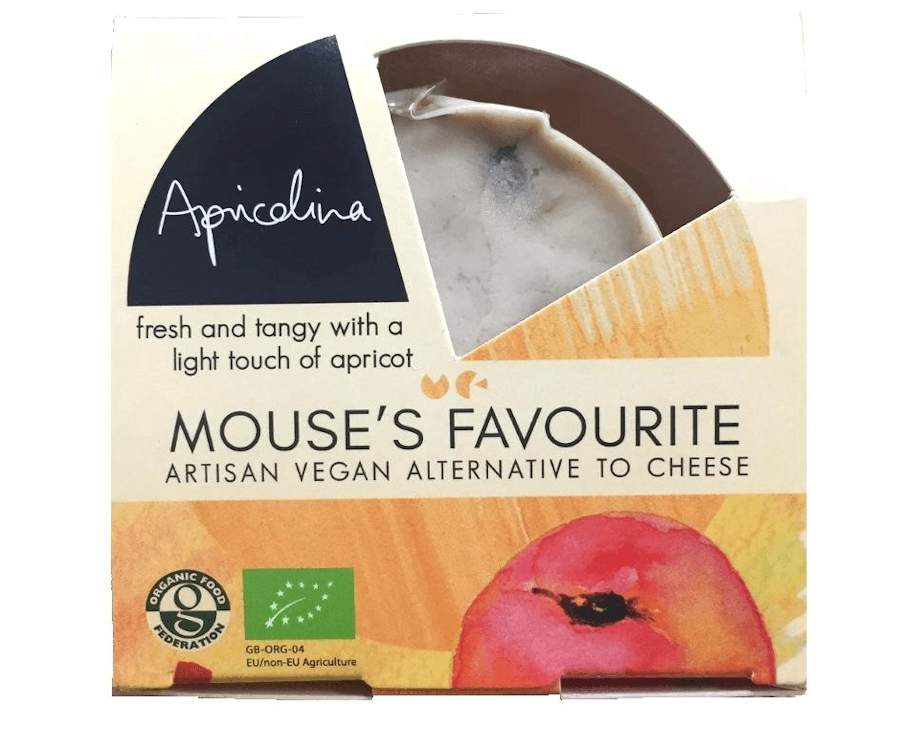 Mouse's Favourite Apricolina Vegan Cheese 130g - Celebration Cheeses