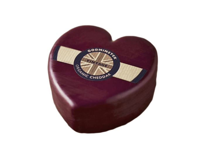 Godminster Organic Cheddar Heart 200g - Celebration Cheeses