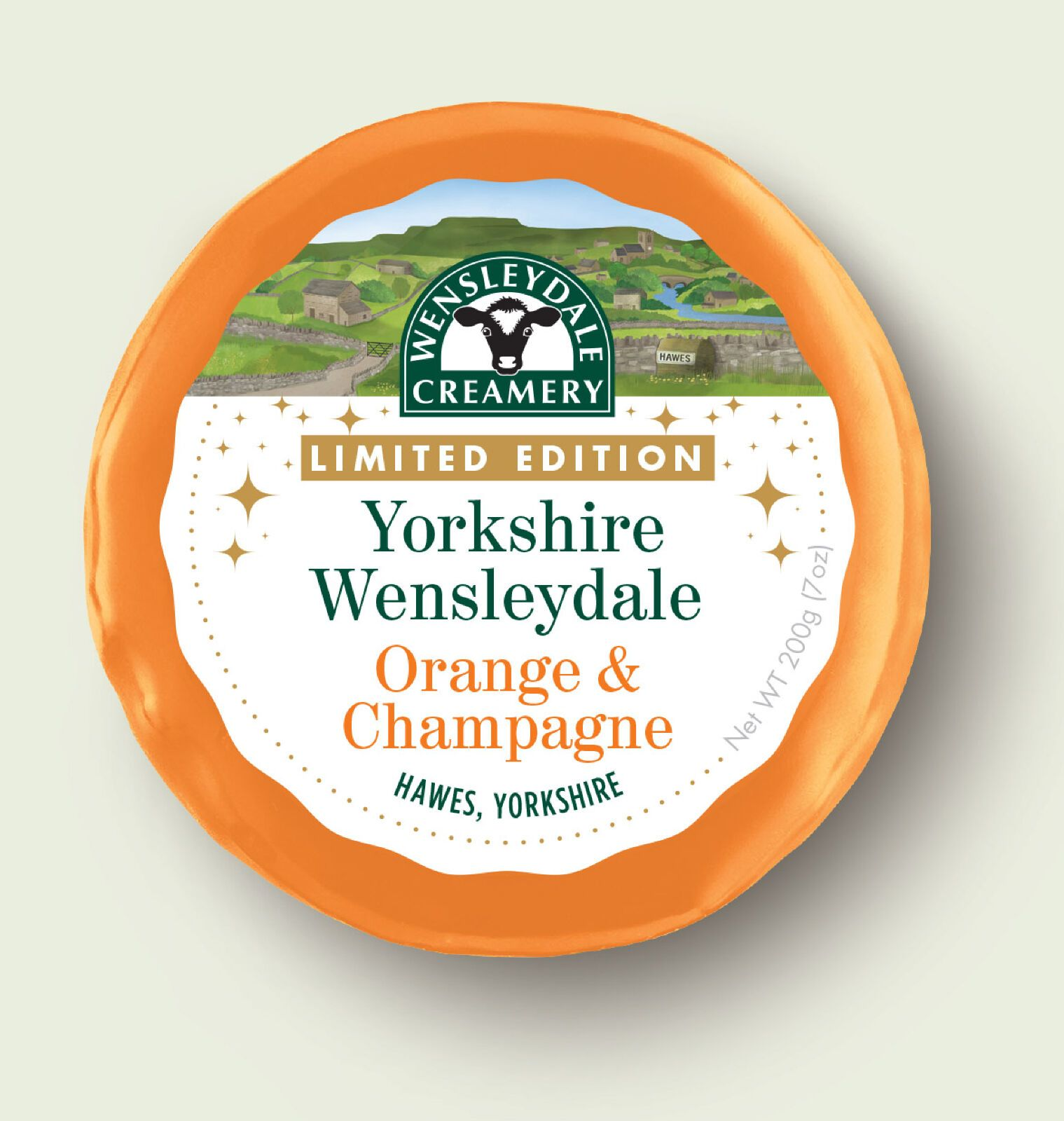 Wensleydale LIMITED EDITION Orange & Champagne 200g - Celebration Cheeses