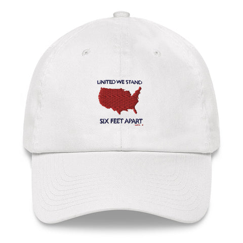 United We Stand Six Feet Apart Dad hat