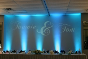After Up Lighting The Head Table At Camden Falls Tiffin Ohio