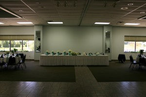 Before Up Lighting The Head Table At Camden Falls Tiffin Ohio
