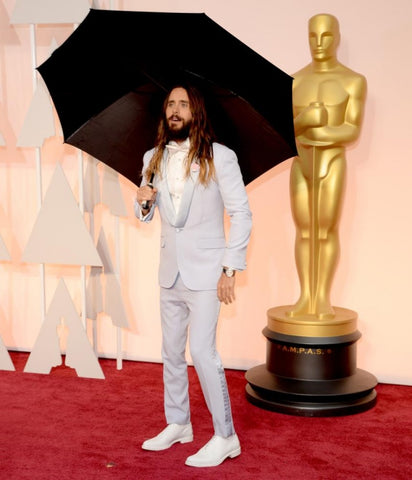 Jared Leto Oscars 2015 Lilac Suit