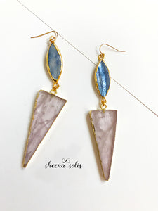 Designer Sheena Solis Sky Rose Gold Filled Drop Earrings