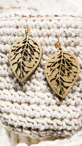 Gold Leaf Statement Earrings by Sheena Solis