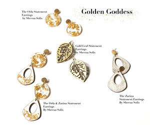 The Orla & Zarina  Statement Earrings by Sheena Solis