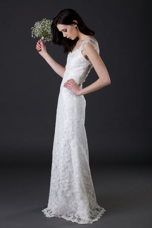 Vintage Inspired Signature Wedding Dress Original Design by Sheena Solis