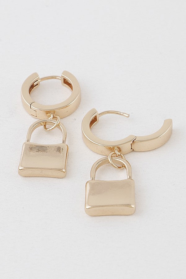 GOLD LOCK EARRINGS