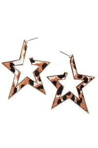 LEOPARD STAR EARRINGS