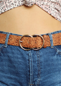 BROWN SNAKE BELT
