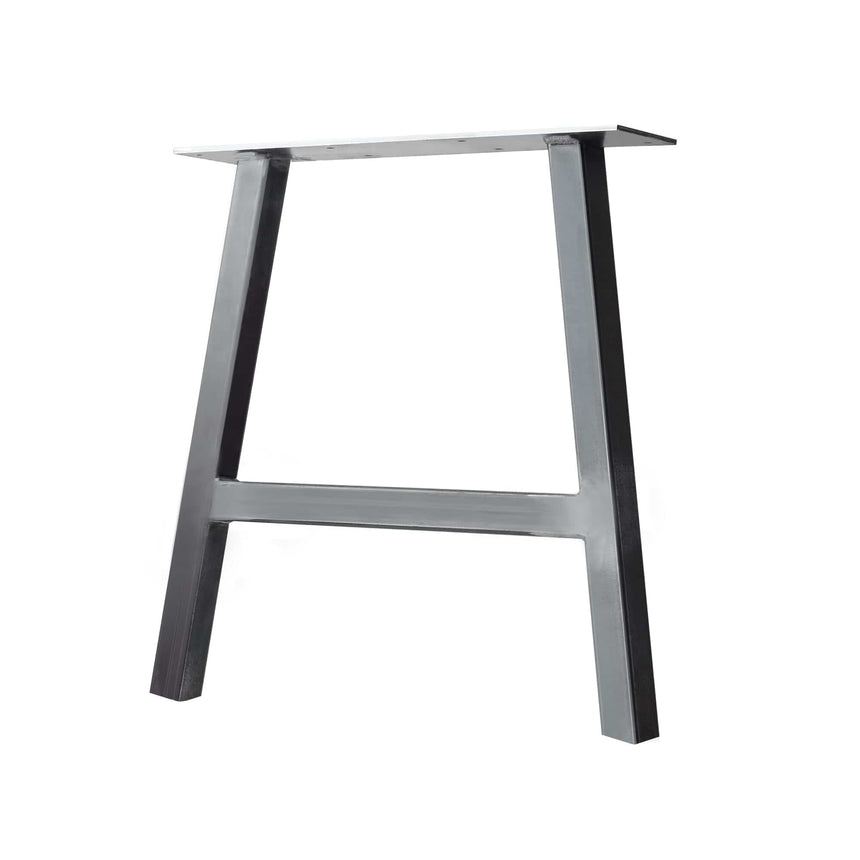 "Semi Exact A-Frame Table & Bench Leg - 2"" x 2"" Tube Steel - 31"" H, 16"" W - Clear Coat Finish"