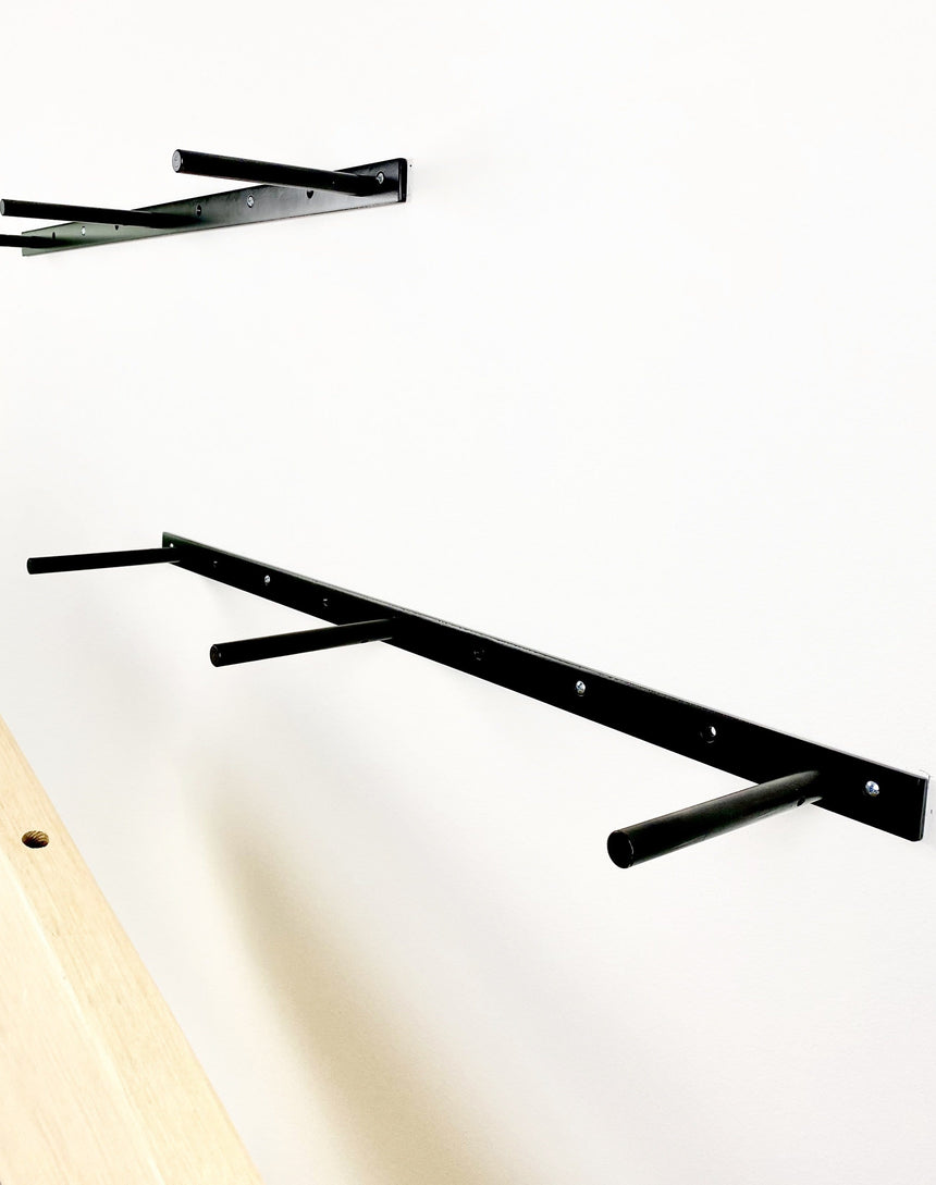 "Floating Shelf Bracket - Available in 10"" to 78"". Lifetime Guarantee. Made in the USA."