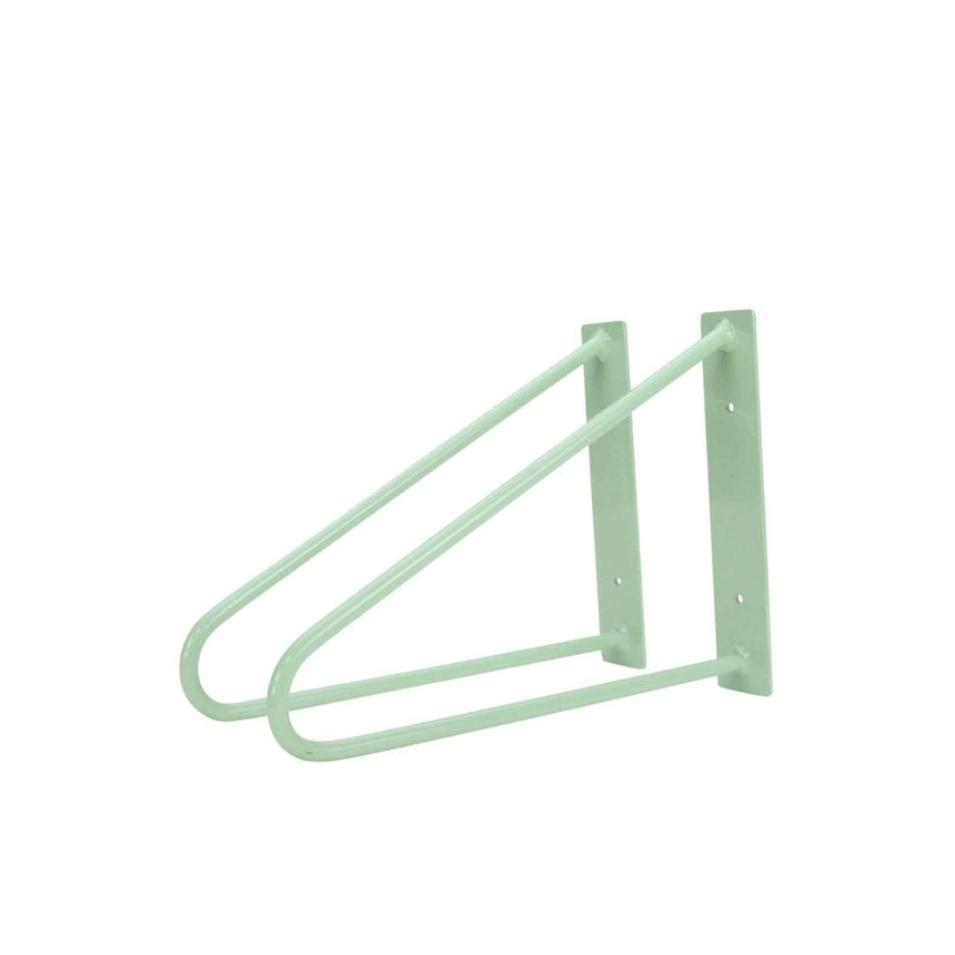 DIY Hairpin Legs Shelf Brackets Pair of Original Hairpin Shelf Brackets | Floating Desk Brackets - Mint