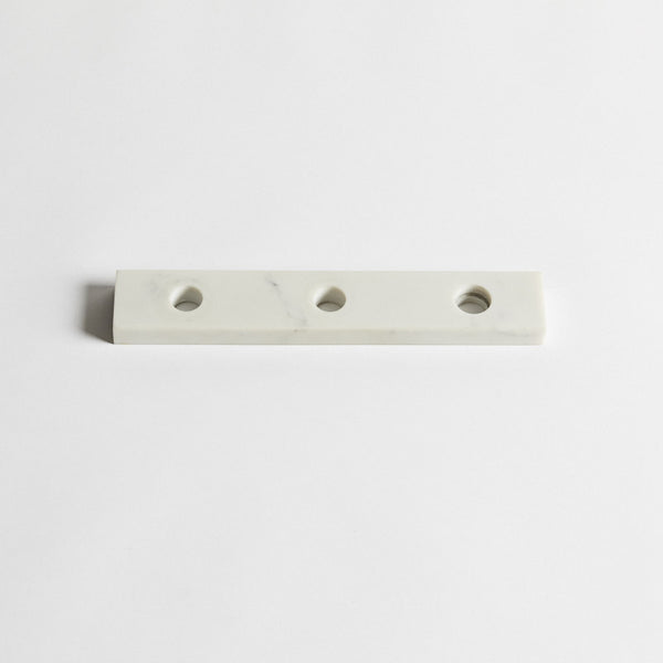 Tres 3-hole backplate in marble