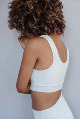 Caoba Crop Top Blanco