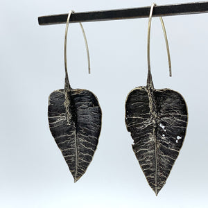Lantern Leaf Earrings - Sterling Silver - Holly Wilson