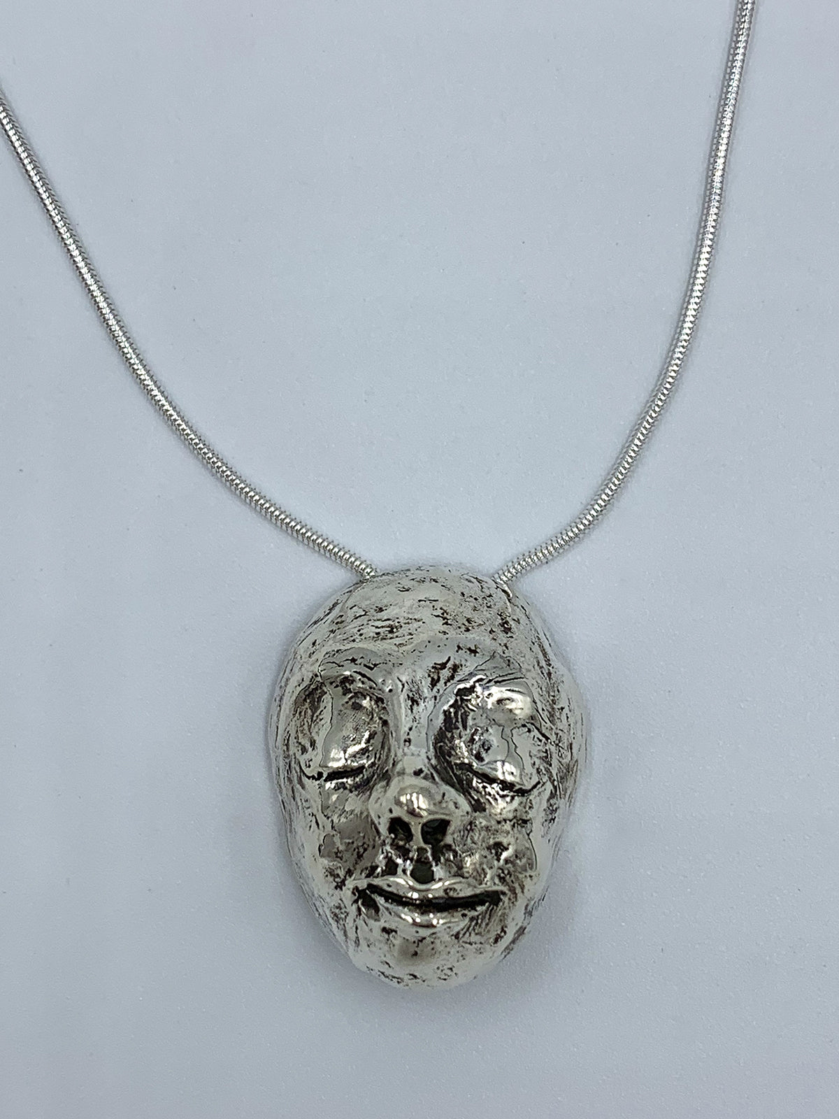 Sleeping Mask Pendent - Sterling Silver - Holly Wilson
