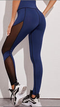 Load image into Gallery viewer, Blue Sports Leggings
