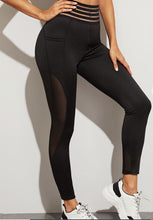 Load image into Gallery viewer, Embrace Thee Journey Mesh Solid Sports Leggings