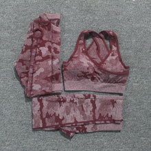 Load image into Gallery viewer, 2PCS Camouflage Camo Yoga Set