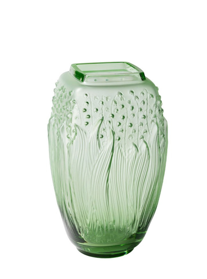 MUGUET LILY OF THE VALLEY VASE GREEN