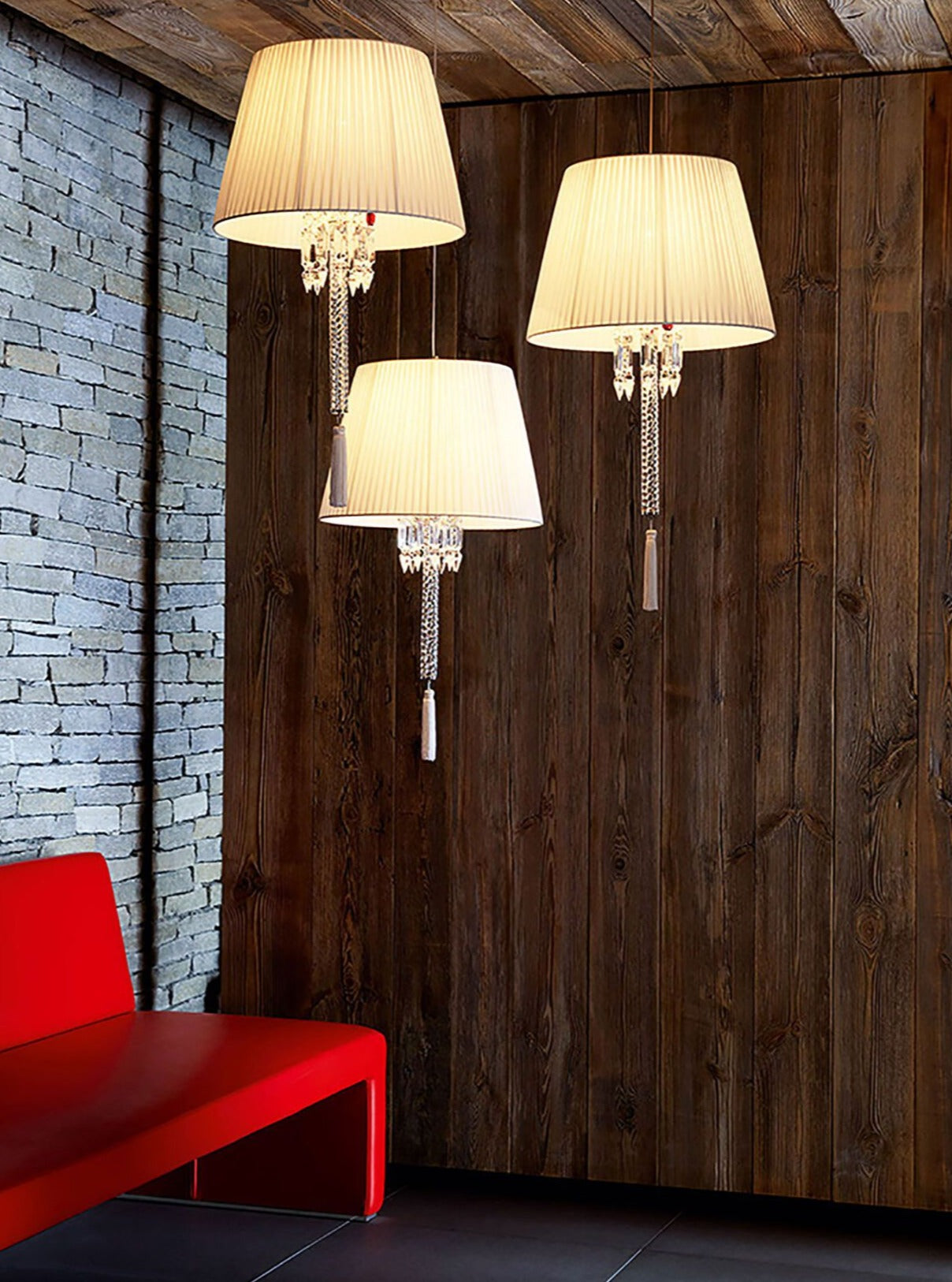 Torch ceiling Lamp With white Lampshade ul