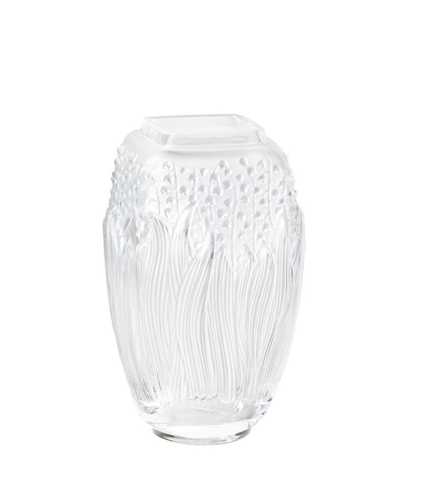 MUGUET LILY OF THE VALLEY VASE CLEAR
