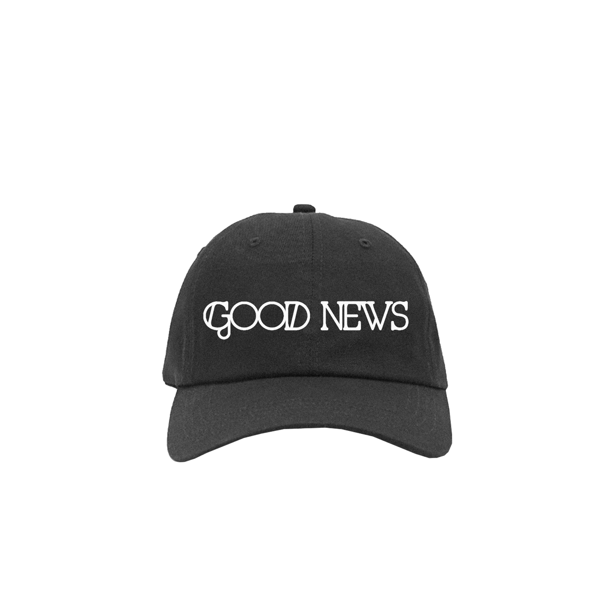 Good News Embroidered Hat - Black