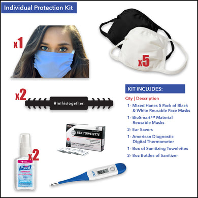 Individual Protection Kit - Front Desk Supply
