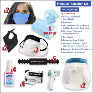Premium Protection Kit with Face Shield - Front Desk Supply