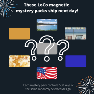 LoCo Magnetic Key Card Mystery Pack - Front Desk Supply