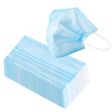 3-Ply Disposable Mask - Box of 50 Masks - Front Desk Supply