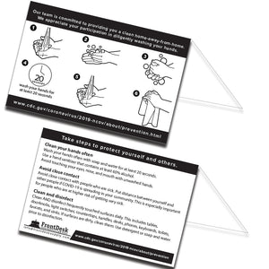 Handwashing Signs - Set of 100 - Front Desk Supply