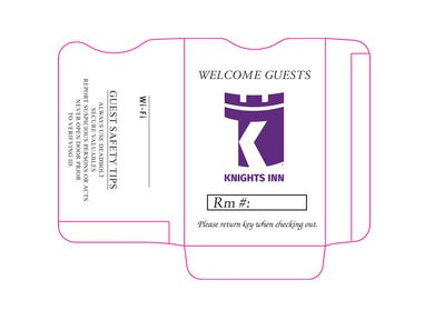 Knights Inn® Key Sleeves - Box of 500 - Front Desk Supply