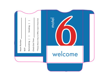 Motel 6® Key Sleeves - Box of 500 - Front Desk Supply
