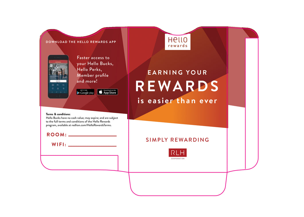 Red Lion® Rewards Key Sleeves - Box of 500 - Front Desk Supply
