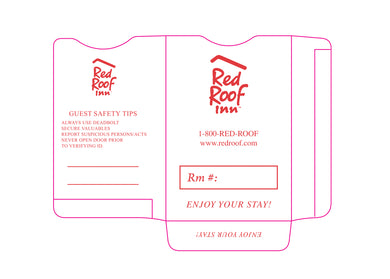 Red Roof ® Key Sleeves - Box of 500 - Front Desk Supply