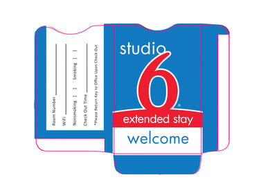 Studio 6® Key Sleeves - Box of 500 - Front Desk Supply
