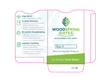 Woodspring Suites® Key Sleeves - Box of 1000 - Front Desk Supply