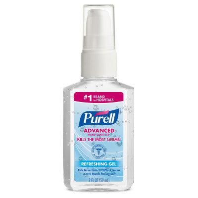 PURELL® 2 oz Personal Pump Hand Sanitzer - Case of 24 - Front Desk Supply