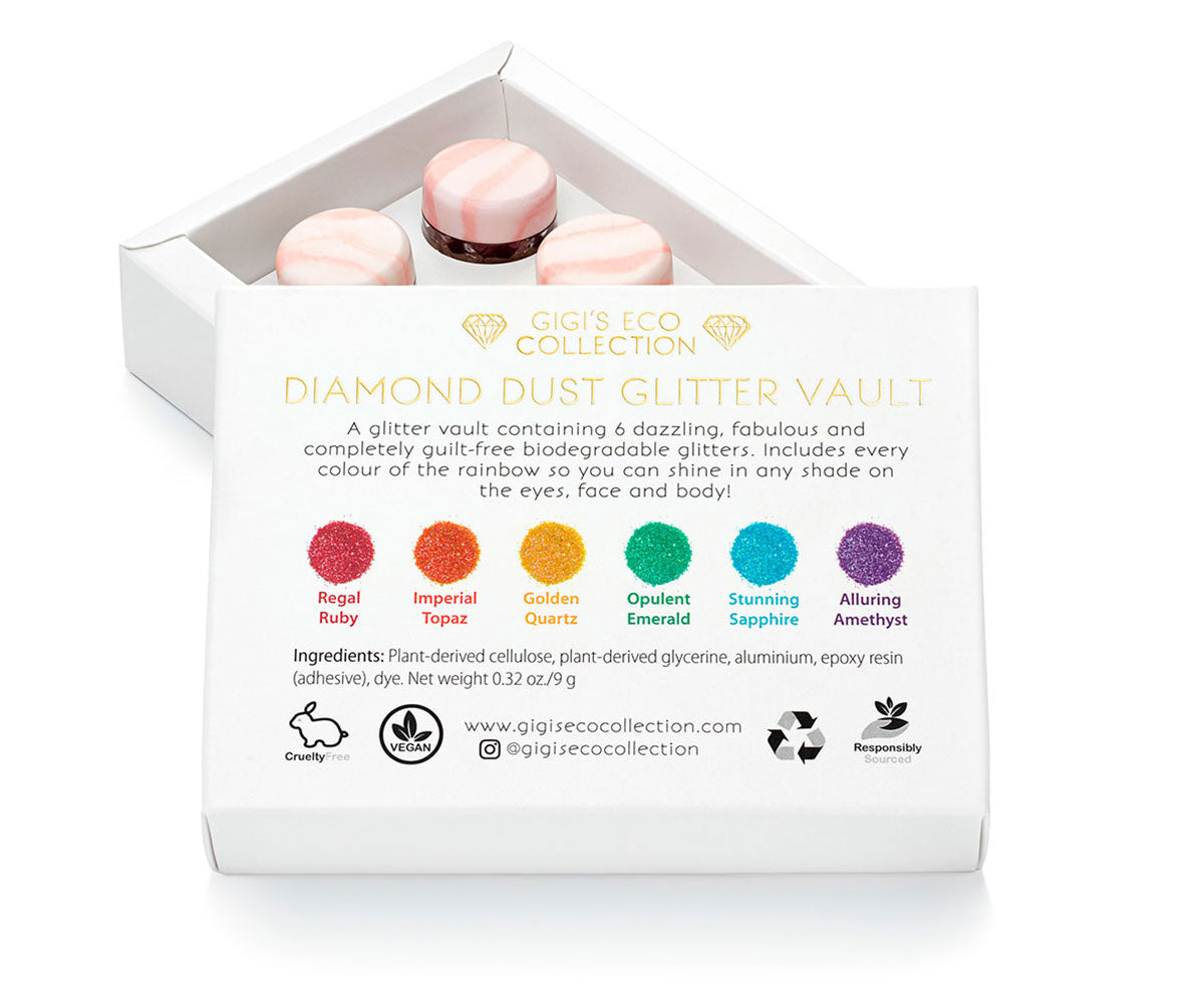 Diamond Dust Glitter Vault Labelling - Gigis Eco Collection