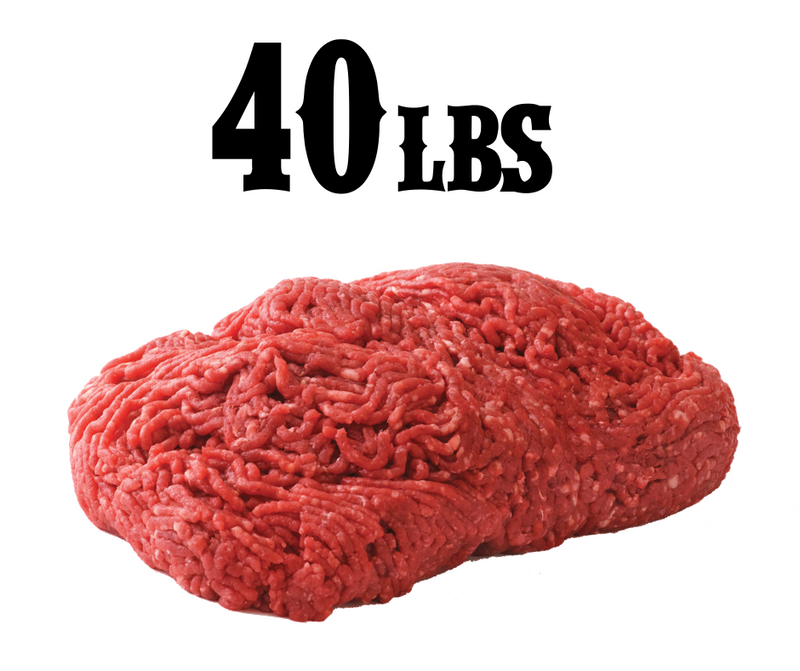 40 lb box Ground Beef (Frozen)