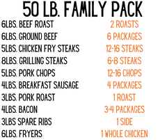 50 lbs Family Pack