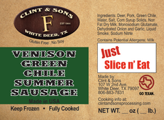Venison Green Chile Summer Sausage
