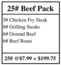 25 LB Beef Pack