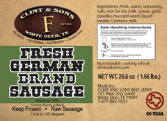 Fresh German Sausage